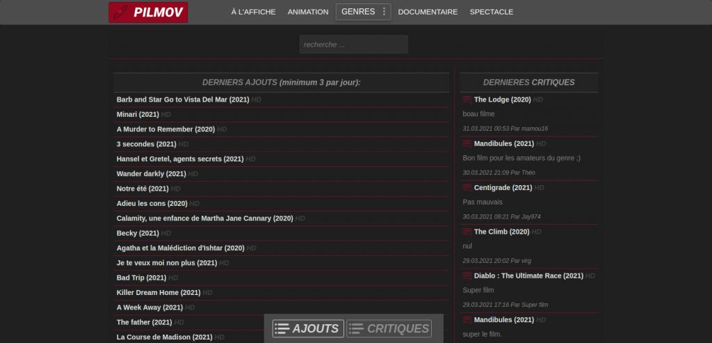 pilmov homepage